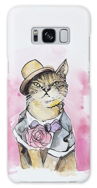 Cat Galaxy S8 Case - Mr Cat In Costume by Venie Tee
