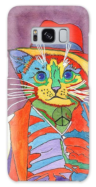 Mr.wisker For Peace Galaxy Case by Connie Valasco