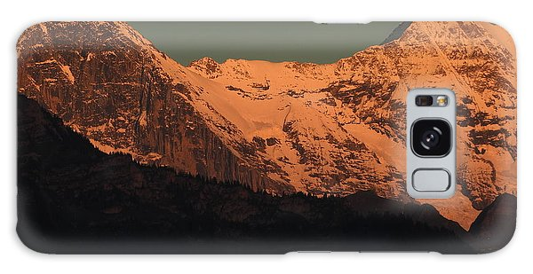 Mt. Eiger And Mt. Moench At Sunset Galaxy Case