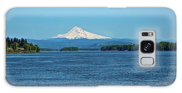 Mt. Hood Above The Columbia River Galaxy Case
