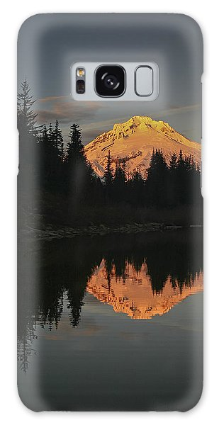 Mt Hood Alpenglow II Galaxy Case by Albert Seger