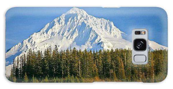 Mt Hood In Winter Galaxy Case