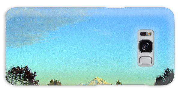 Mt Hood Just Before Sunset Galaxy Case