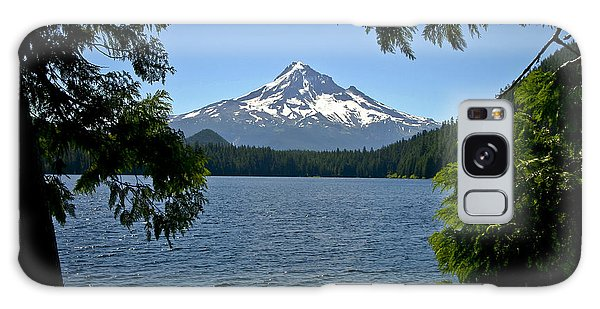 Mt Hood Over Lost Lake Galaxy Case
