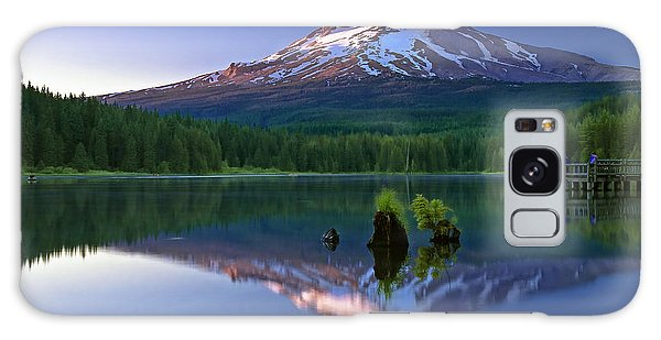 Mt. Hood Reflection At Sunset Galaxy Case