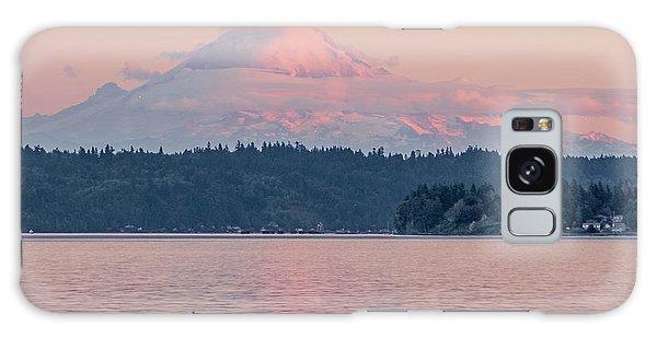 Mt. Rainier At Sunset Galaxy Case