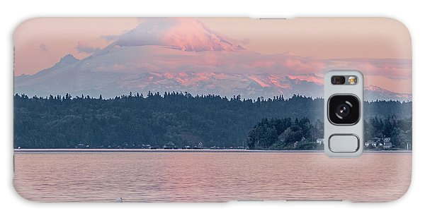 Mt. Rainier At Sunset Galaxy Case