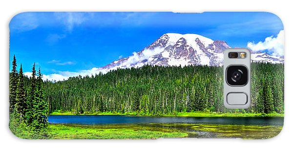 Mt. Rainier From Reflection Lakes Galaxy Case