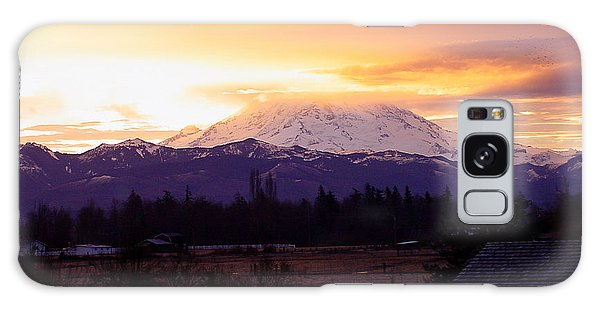 Mt. Rainier On Fire Galaxy Case