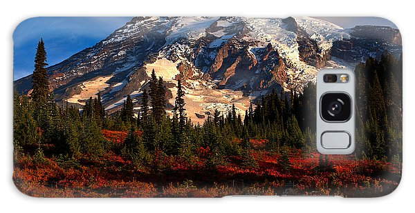 Mt. Rainier Paradise Morning Galaxy Case by Adam Jewell