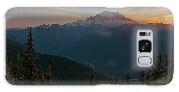 Mt Rainier Sunset Glow Galaxy Case