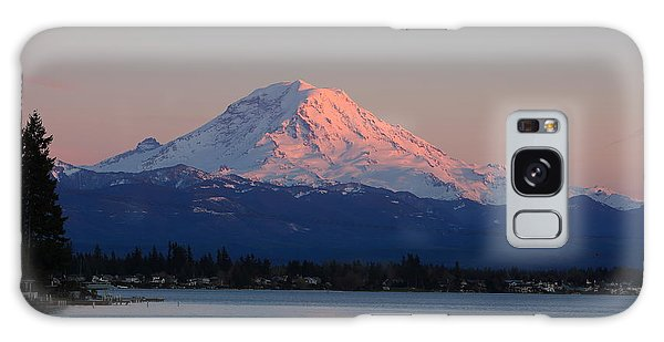 Mt Rainier Sunset Galaxy Case