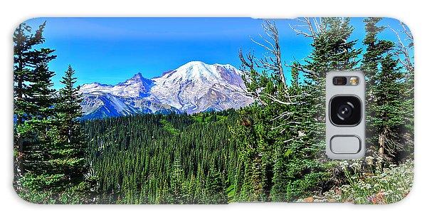 Mt. Rainier Wildflowers Galaxy Case