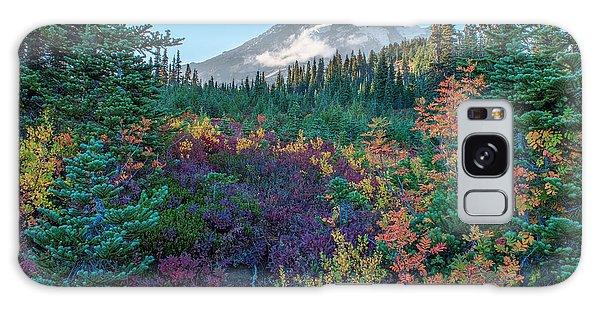 Mt Rainier With Autumn Colors Galaxy Case