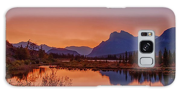 Galaxy Case featuring the photograph Mt. Rundle 2009 11 by Jim Dollar