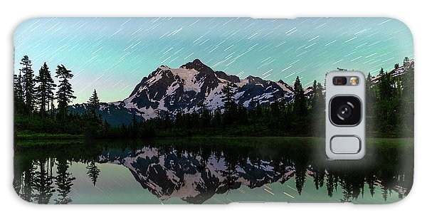 Mt Shuksan And Star Trails Galaxy Case