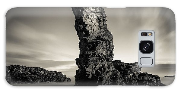 Sea Stacks Galaxy Case - Muchalls Stack by Dave Bowman