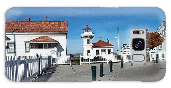 Muckilteo Lighthouse Galaxy Case by Judyann Matthews