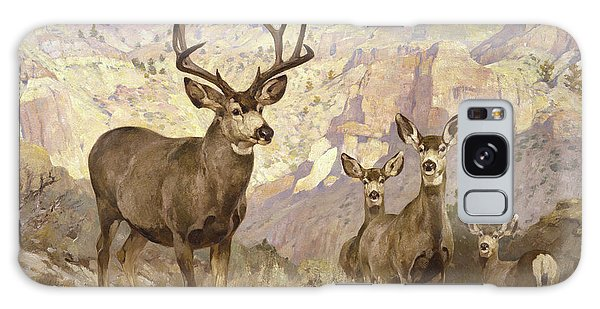 White-tailed Deer Galaxy Case - Mule Deer In The Badlands, Dawson County, Montana by Rungius Carl