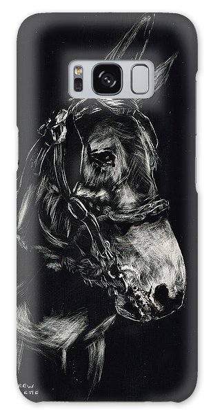 Mule Polly In Black And White Galaxy Case