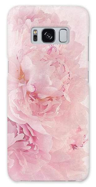 Artsy Pink Peonies Galaxy Case by Sandra Foster