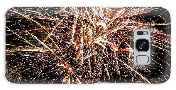 Galaxy Case featuring the photograph Multi Blast Fireworks #0721 by Barbara Tristan