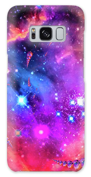 Colorful Galaxy Case - Multi Colored Space Chaos by Matthias Hauser