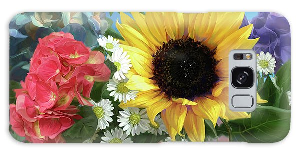 Daisy Galaxy S8 Case - Multicolor Flowers by Lucie Bilodeau