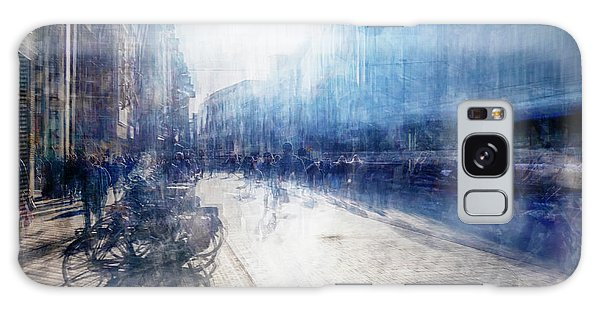 Multiple Exposure Of Shopping Street Galaxy Case