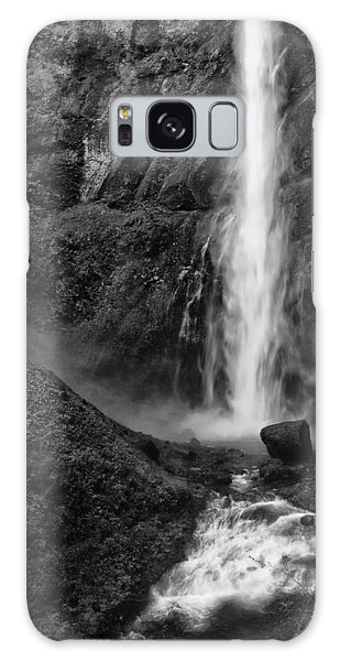 Multnomah Falls In Black And White Galaxy Case
