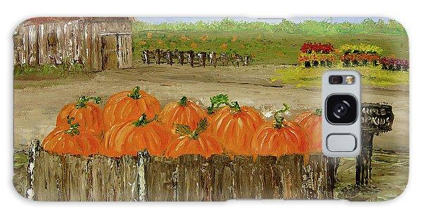Mum And Pumpkin Harvest Galaxy Case