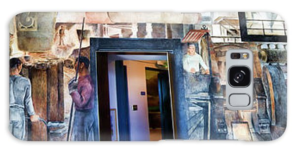 Mural Coit Tower Interior Panorama  Galaxy Case