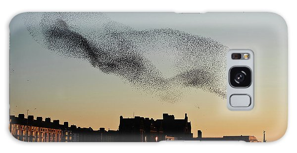 Murmuration Of Starlings Over Aberystwyth Wales Uk Galaxy Case