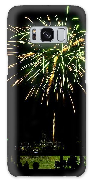 Galaxy Case featuring the photograph Murrells Inlet Fireworks by Bill Barber
