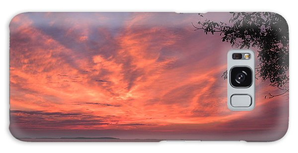 Muscongus Sound Sunrise Galaxy Case