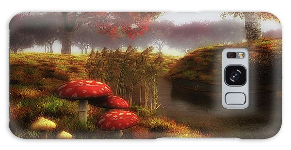 Mushrooms And River Galaxy Case