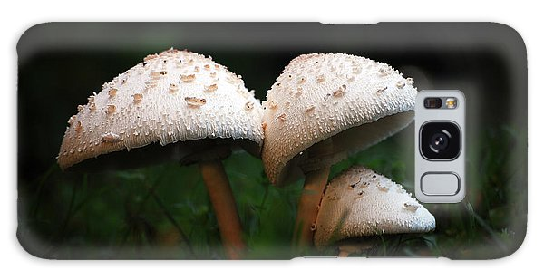 Mushrooms In The Morning Galaxy Case by Robert Meanor