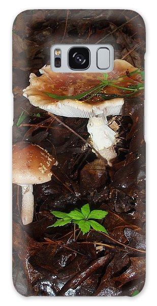 Mushrooms Rising Galaxy Case
