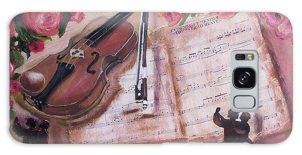 Music And Roses Galaxy Case by Vesna Martinjak