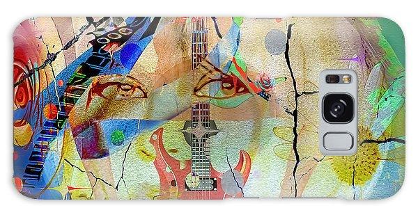 Galaxy Case featuring the digital art Music Girl by Eleni Mac Synodinos