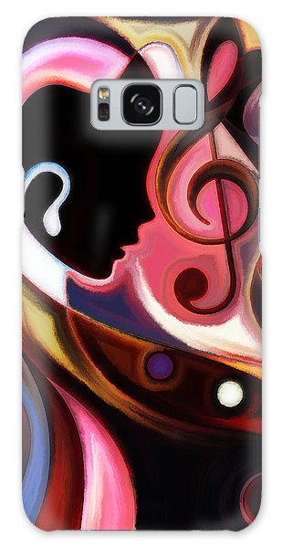 Music In The Air Galaxy Case by Karen Showell