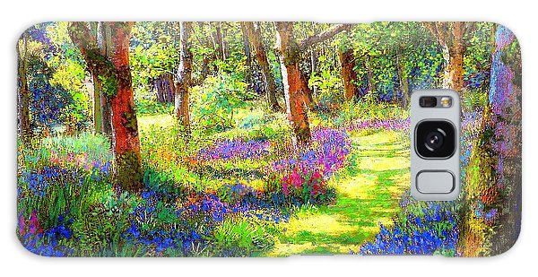 Music Of Light, Bluebell Woods Galaxy Case by Jane Small