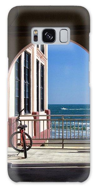 Music Pier Doorway View Galaxy Case