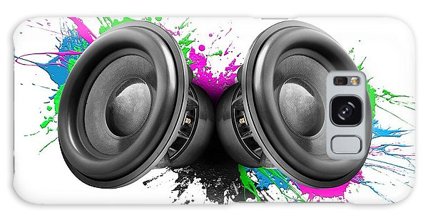 Rock Music Galaxy Case - Music Speakers Colorful Design by Johan Swanepoel
