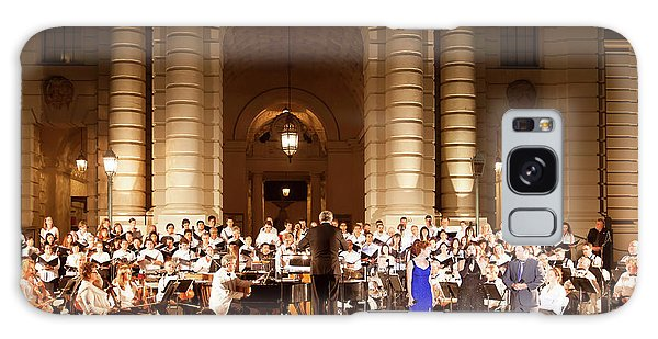 Music Under The Stars - Symphony At Pasadena City Hall California Galaxy Case by Ram Vasudev