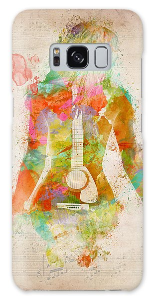 Music Was My First Love Galaxy Case by Nikki Marie Smith
