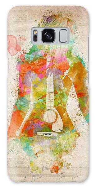 Guitar Galaxy Case - Music Was My First Love by Nikki Marie Smith