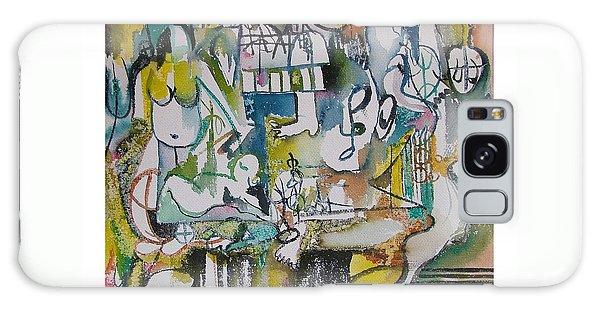 Musical Abstraction  Galaxy Case by Rita Fetisov