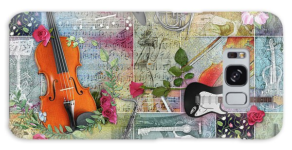 Musical Garden Collage Galaxy Case