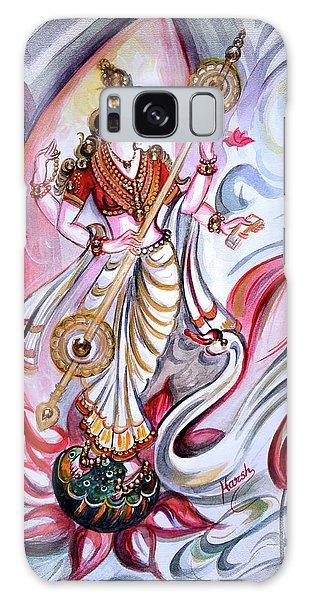 Musical Goddess Saraswati - Healing Art Galaxy Case